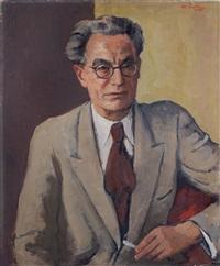 portrait des verlegers erhard bunkowsky (bunkowski) by johannes beutner
