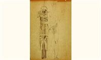 saint sébastien à l'armure (étude) by louis léon eugène billotey