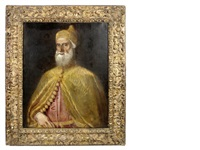portrait of doge francesco donato, half length, wearing the corno ducale by titian (tiziano vecelli)