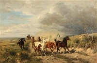 horses and herders by ludwig benno fay