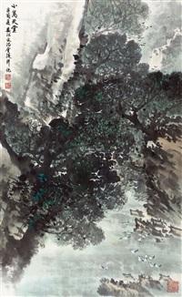 小鸟天堂 立轴 纸本设色 by song wenzhi