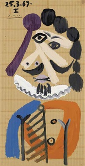 buste d'homme by pablo picasso