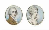 william wellesley-pole, baron maryborough and later 3rd earl of mornington (1763-1845) (+ his wife, katherine elizabeth, née forbes; pair) by richard cosway