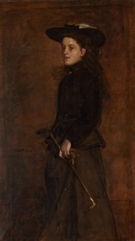 portrait of mary martin in a riding habit by james guthrie
