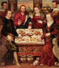 the wedding feast at cana by luca mombello