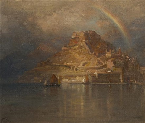 storm over the mount by samuel colman