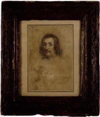 tête de jeune homme moustachu aux cheveux longs by ippolito leoni