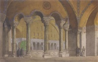 the gallery at santa sophia, constantinople by richard phene spiers