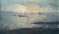 bateaux au mouillage by louis robert antral