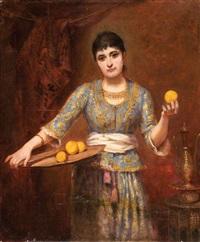 jeune fille aux citrons by belgian school (19)