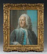 portrait d'etienne perrinet, chevalier de jars, fermier général by maurice quentin de la tour