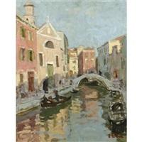 venetian canal by edward le bas