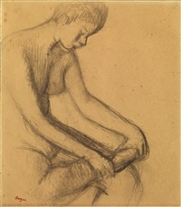 danseuse assise by edgar degas