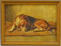 the sleeping beagle by franklin whiting rogers
