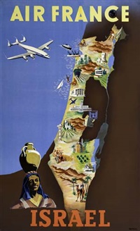 air france - israel by posters: aviation
