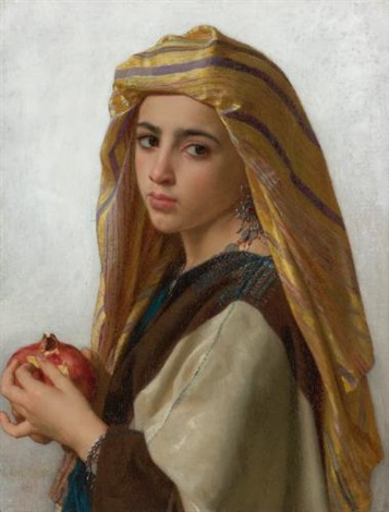lorientale à la grenade girl with a pomegranate by william adolphe bouguereau