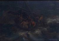 le christ priant pendant la tempête by pierre andrieu