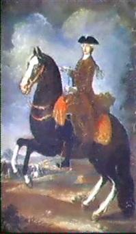 ritratto equestre di maria amalia di sassonia by francesco liani