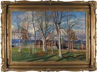 drzewa na bystrem (zakopane) by stanislaw kamocki