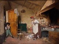 mère et enfants dans la cuisine by gioffredo bosisio and carlo gerosa