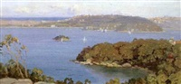 the harbor from clifton, australia by erik (sir) langker