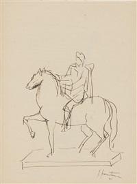 senza titolo (statua equestre) by lucio fontana