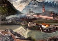 landskap, innsbrück (sketch; verso) by martin åberg