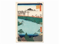 kumano jūnisha shrine (oban) by ando hiroshige