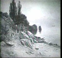 a house on a rocky beach by g. apisov