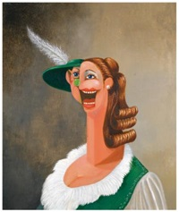 the alpine waitress by george condo