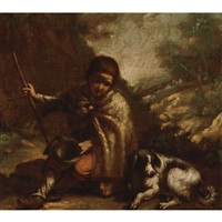 tobit with his dog by antonio mercurio amorosi