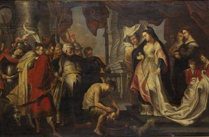 la reine thomyris fait plonger la tête de cyrus dans une outre pleine de sang by sir peter paul rubens