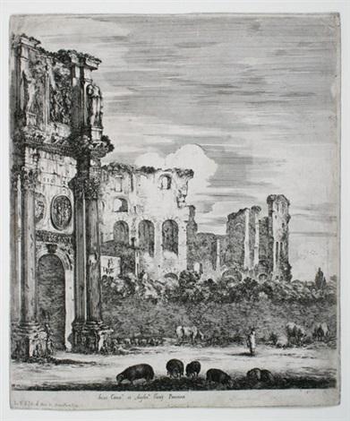 der konstantin bogen in rom by stefano della bella