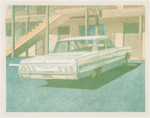 64 impala and 63 bel air (2 works) by robert bechtle