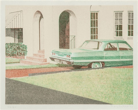 64 impala and 63 bel air 2 works by robert bechtle