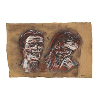 two heads by leon golub