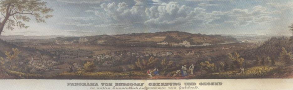 """""""panorama von burgdorf oberburg und gegend/des untern..."""" by rudolf huber"""