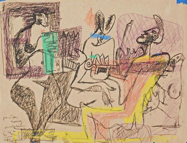 musiciens à bogota by le corbusier