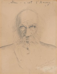 portrait by léon lvovitch tolstoi