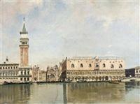 vue sur la place saint-marc et le palais des doges à venise by jean baptiste van moer