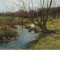 pasture brook by charles paul gruppe