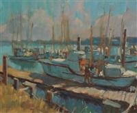 bandon harbor, oregon by keith ward