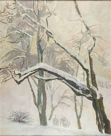 drzewa w sniegu by stanislaw kamocki