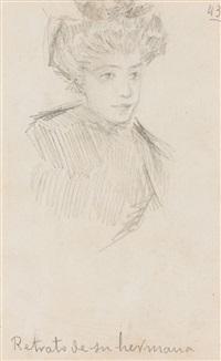 retrato de su hermana (portrait de femme) by juan gris