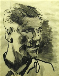 selfportrait by gheorghe tomaziu