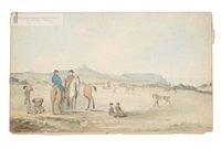 the racecourse on dearwood plains st. helena by denzil o. ibbetson