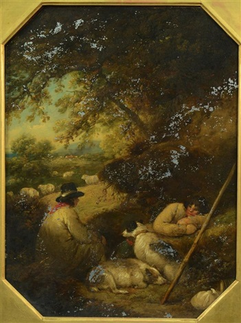 shepherds reposing by george morland