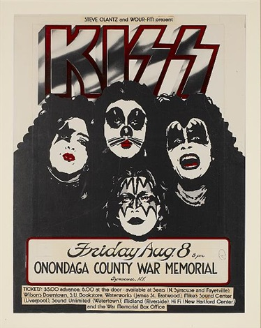 Kiss at the Onondaga County War Memorial, Syracuse, original