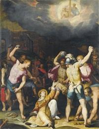 lapidazione di santo stefano by orazio samacchini