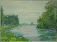bord de rivière, trilport by mikhail nikolaevich yakovlev